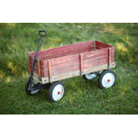 Wooden Red Flyer Wagon
