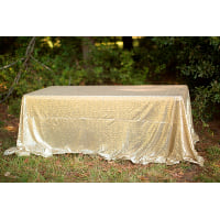 Rectangle Gold Sequin Tablecloth
