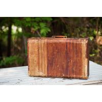Medium Striped Suitcase