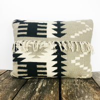 Aztec fringed pillow