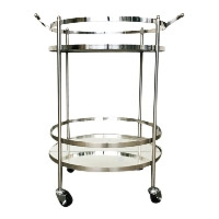 Marlin silver mirrored bar cart