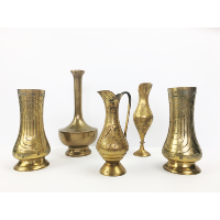 Various Brass bud vase