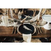 Charcoal heirloom plate