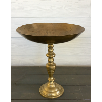 Tall brass bowl
