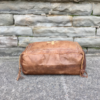 Laila leather pouf