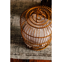 Wicker bird cage