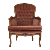 Jane pink tufted chair