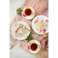 Vintage china dessert plates