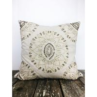 Linen beaded pillow