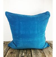 Turquoise velvet pillow (Large)