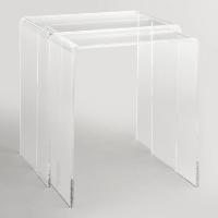 Ronny acrylic nesting table set