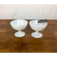 Assorted milk glass vessels