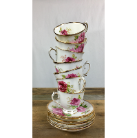 Assorted tea cups and saucer sets