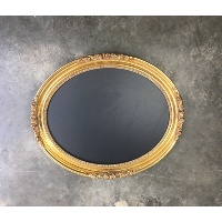 Morgan oval gold chalkboard
