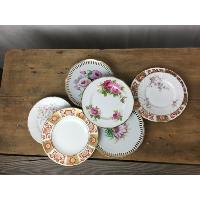 Vintage china salad plates
