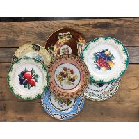 Vintage tin dinner plates