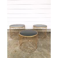 Samuel gold nesting tables