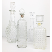 Vintage crystal decanters