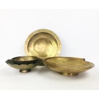 Shallow brass bowls