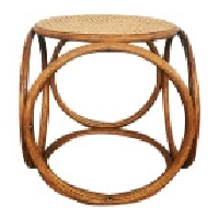 Effie wicker side table