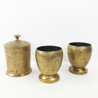 Small brass vessel set