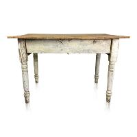 Wren white farmhouse table