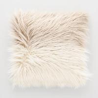 Mocha Ombre faux fur pillow