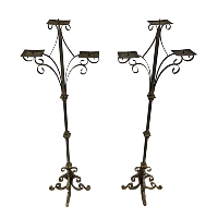 Iron candelabras