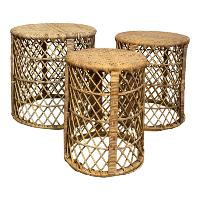 Genevieve wicker nesting table set