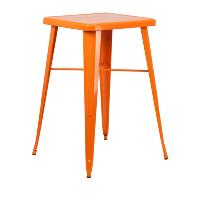 Orange high top table