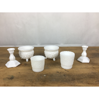 Milk glass votive holders