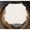 GRAY SM SQUARECAKE PLATE