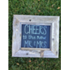 CHEERS TO THE NEW MR & MRS - VINT WOOD FRAMED SIGN