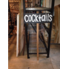 COCKTAILS - CHALKBOARD SIGN ON WOOD STAKE