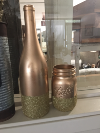 COPPER/GOLD WINE BOTTLE