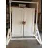 SET OF 2 SOLID VINTAGE DOORS IN FRAME
