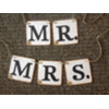 MR & MRS WHITE CARDS CHAIR BANNER