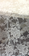 WHITE LACE OVERLAY 3'x11'