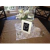 IVORY FRAMED CHALKBOARD TABLE NUMBER