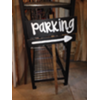 PARKING - CHALKBOARD SIGN ON WOOD STAKE