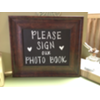 PLEASE SIGN OUR PHOTO BOOK BRONZE FRAMED CHALKBOARD