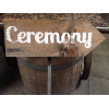 CEREMONY WOODEN ARROW ON STAKE