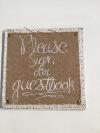 GUESTBOOK BURLAP SIGN