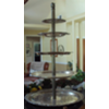 VINT SILVER 5 TIER CUPCAKE TOWER