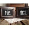 MR & MRS DARK BROWN FRAMED CHALKBOARDS