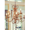 1961 LRG BRONZE DOUBLE ARM CHANDELIER