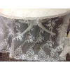 IVORY SHEER LACE/SEQUIN OVERLAY 4'x9'
