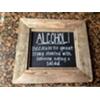 ALCOHOL - VINT WOOD FRAMED SIGN