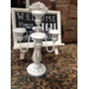 DO NOT USE - WHITE 5 CANDLE TABLETOP CANDELABRA