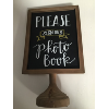 PHOTO BOOK WOODEN SIGN